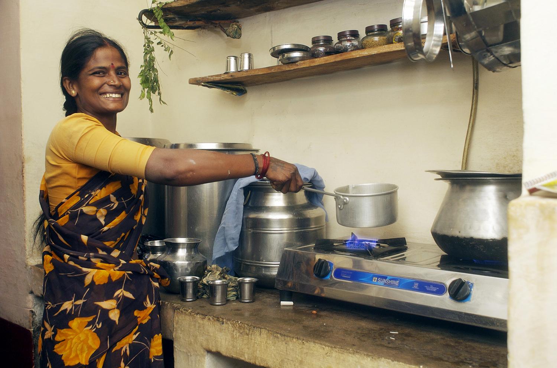 L'installation de biodigesteurs à Karnataka en Inde