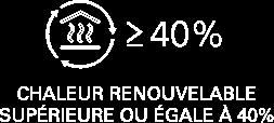 CHALEUR RENOUVELABLE SUPÉRIEURE OU EGALE À 40%